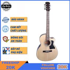 Đàn guitar acoustic DT70 Duy Guitar có nhiều màu tùy chọn Dòng guitar đệm hát cho âm thanh vang sáng Cần đàn có ty Action bấm nhẹ dành cho bạn mới tập