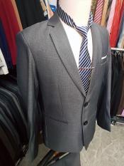 Bộ Vest Nam Form Suông Kiểu 2 Nút Màu Xám Ghi Chất Vải Dày Mịn + cà vạt kẹp