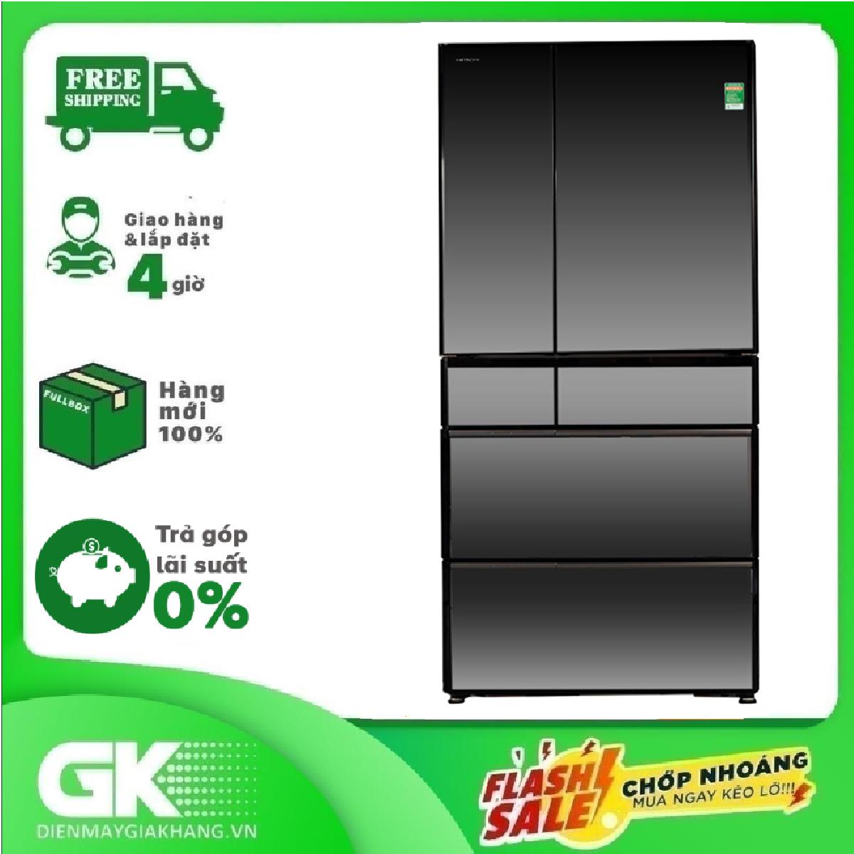 TRẢ GÓP 0% – Tủ lạnh Hitachi Inverter 722 lít R-X670GV (X)- Bảo hành 12 tháng