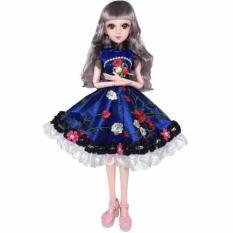 Đầm búp bê 60cm xanh đậm