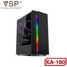Case VSP KA-180 (Đen-Trắng) LED RGB-Kính Cường Lực