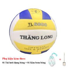 Bóng Chuyền Thăng Long 6800 + Túi Lưới Đựng Bóng + Kim Bơm Bóng