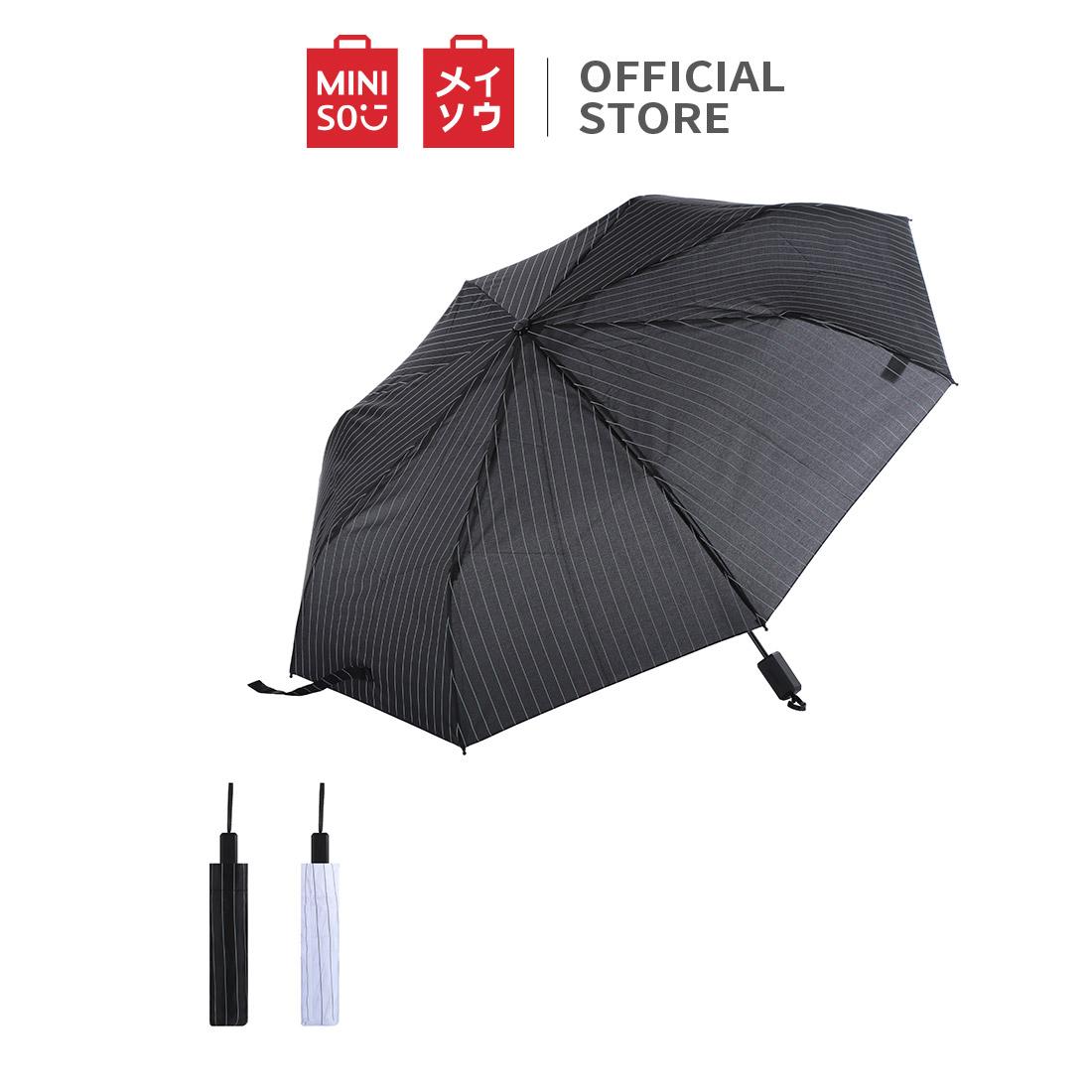 Dù gấp, sọc MinisoFoldable Umbrella
