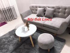 SF – Bộ sofa băng xám trắng nhung 1m9x80, ghế sofa phòng khách, salon, sopha, sa lông, sô pha