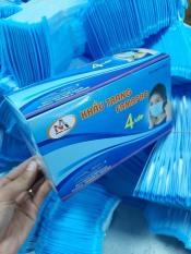 Khẩu trang kháng khuẩn 4 lớp Nam Anh Famapro hộp 50 cái màu xanh đeo mềm mịn mát