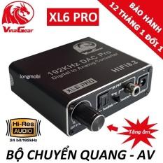 Bộ chuyển quang optical sang audio VINAGEAR XL6 PRO Chính Hãng cao cấp ,có nút điều chỉnh âm lượng