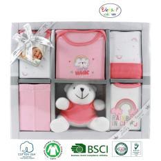 Set hộp quà tặng sơ sinh 6 chi tiết (thú bông) cho bé