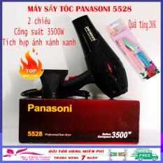 (Tặng dao cạo chân mày Ailin) Máy sấy tóc 2 chiều Panasoni 5528 công suất 3500W, máy chạy cực êm có ánh sáng xanh kháng khuẩn phù hợp với gia đình, salon tóc