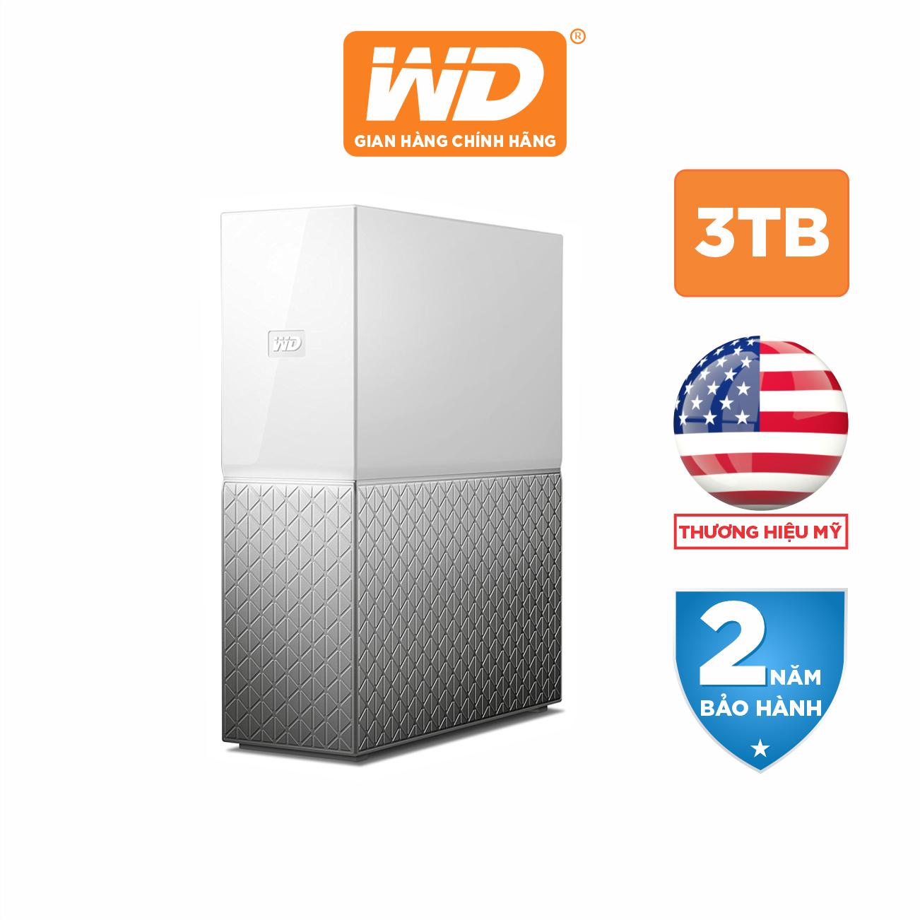 Ổ Cứng Mạng WD My Cloud 3TB – WDBVXC0030HWT-SESN – Hàng Phân Phối Chính Hãng