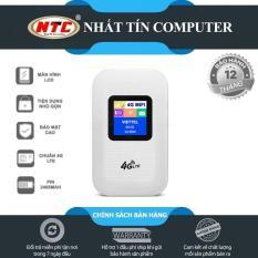 [Nhập ELAPR21 giảm 10% tối đa 200k đơn từ 99k]Thiết bị phát wifi từ sim 4G LTE A900 model M100 có màn hình LCD – Hỗ trợ vừa sạc vừa dùng (Trắng) – Nhất Tín Computer