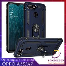 Ốp lưng Oppo A5S Oppo A7 chống sốc 2 lớp kèm nhẫn iring làm giá đỡ bảo vệ máy toàn diện chuẩn châu âu
