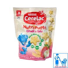 Bánh Ăn Dặm Dinh Dưỡng Nestlé Cerelac Nutripuffs Hương Vị Chuối & Dâu Gói 50g (Dành cho trẻ từ 8 tháng tuổi)