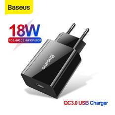 Bộ Sạc Nhanh USB Baseus 18W PD 3.0, Bộ Sạc Nhanh Điện Thoại Mini Cho iPhone 11 Pro Xs Max XR 3.0 SCP FCP Cho Huawei P30 Pro Xiaomi