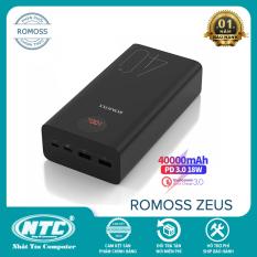Pin sạc dự phòng Romoss ZEUS 40+ dung lượng 40000mAh hỗ trợ sạc nhanh QC3.0 và sạc đảo chiều PD 18W (Đen) – Nhất Tín Computer