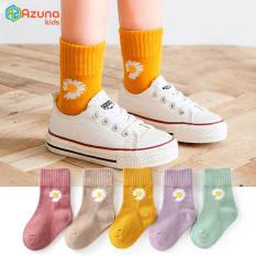 Set 5 đôi tất cho bé trai bé gái Azuna Kids từ 1 đến 12 tuổi dễ thương , co giãn thoải mái