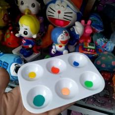 Khay pha màu nước cho bé sáng tạo, dụng cụ pha tô màu nước cho trẻ em
