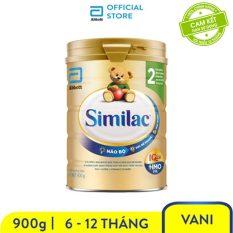 [GIẢM 50K ĐƠN 599K]Sữa bột Similac Eye-Q 2 HMO 900g Gold Label bé từ 6 – 12 tháng tuổi tăng cường sức đề kháng và hệ tiêu hóa khỏe mạnh
