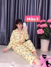 Đồ bộ mặc nhà pizama – pijama kate thái tay dài quần dài cao cấp – Freesize Dưới 58kg