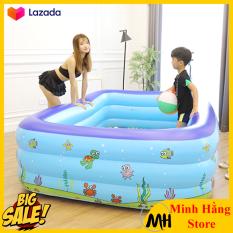 [SIÊU HOT- GIÁ SẬP SÀN- SIÊU ĐẬM 3 NGÀY – 1M5] Bể bơi phao 3 tầng hình chữ nhật cao cấp cho bé và gia đình vui chơi gắn kết yêu thương – GDVINH03