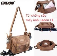 Túi chống sốc máy ảnh Caden F1 đeo ngang vải bố canvas siêu bền