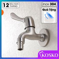 Vòi hồ inox 304 TẶNG BĂNG TAN – vòi nước máy giặt (Phi 21 – ren 1/2), vòi , vòi rửa tay, vòi xả, vòi lạnh VH 32