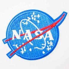Patch ủi sticker vải – NASA nền xanh