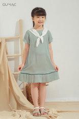 ( Sản phẩm mới)Váy đầm em bé suông bèo nơ cổ DKA623 GUMAC