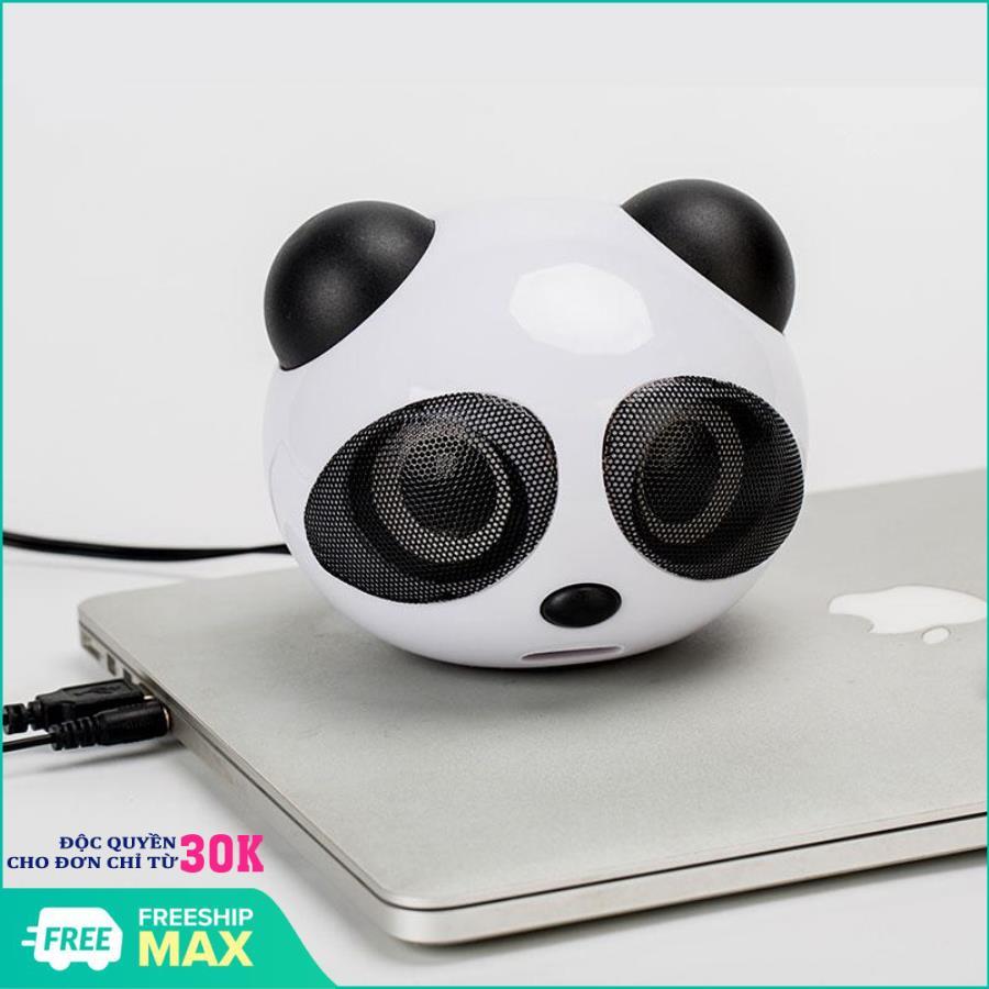 Loa nghe nhạc xem phim dùng cho máy máy tính và điên thoại kết nối jack 3.5 gấu trúc Panda...