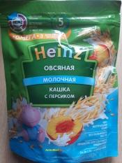 Bột ăn dặm Heizn Nga vị đào sữa yến mạch cho bé từ 5 tháng – 200g (bot an dam, bot heizn, bot nga)