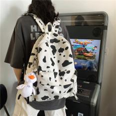 [Tặng Móc Khóa]Balo Nữ Đi Học,Balo ulzzang,Balo thời trang cao cấp họa tiết bò sữa Hot Trend-Thế Giới Balo Túi
