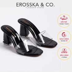 Dép nữ, dép cao gót Erosska quai trong kiểu dáng đơn giản thời trang thanh lịch cao 9cm EM040 (BA)