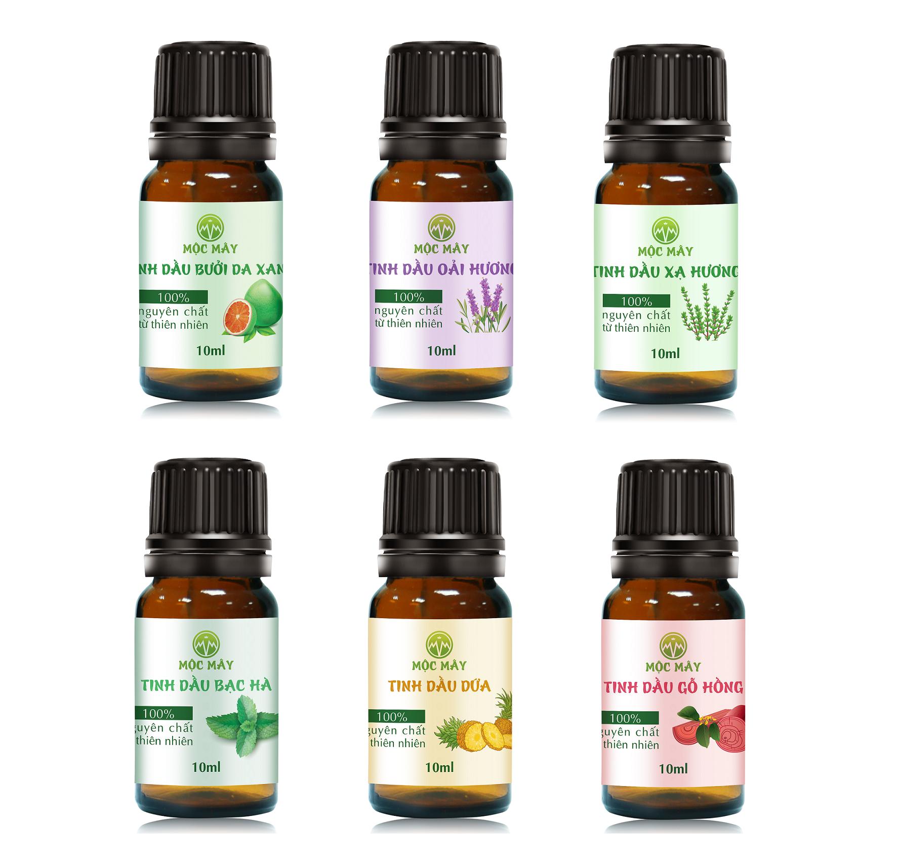Tinh dầu thiên nhiên nguyên chất 10ml Mộc Mây – tinh dầu Organic nguyên chất từ thiên nhiên (có kiểm định bộ y tế, chất lượng và mùi hương vượt trội)