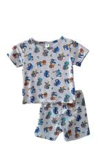 Bộ cotton quần đùi, áo cộc tay bé trai Việt Thắng B63.2022 – Chất liệu mềm, mặc thoải mái