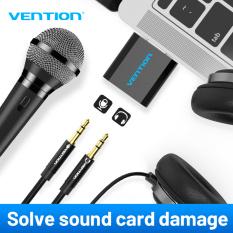 【COD】Vention Card âm thanh ngoài USB sang jack 3.5mm Jack tai nghe Aux Bộ chuyển đổi âm thanh stereo Card âm thanh cho loa PC Mic Máy tính xách tay Máy tính PS4