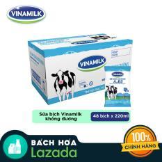 Thùng 48 bịch Sữa Dinh Dưỡng Vinamilk Không Đường 220ml