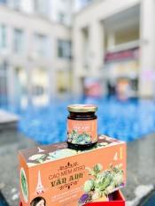 Cao ATISO Vân Anh nhãn cam – hộp 500g gồm 3 hủ thủy tinh sang trọng – thức uống mát gan giải độc hiệu quả