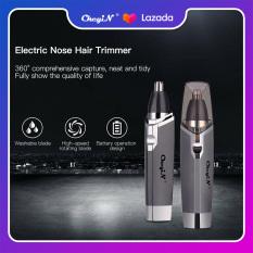 Ckeyin Máy tỉa lông mũi/tai màu xám chạy bằng pin và lưỡi bằng thép không gỉ an toàn dành cho nam RS015HQ – INTL