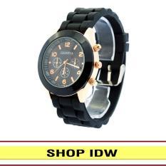 [Có video quay thật] Đồng hồ nữ dây silicon thời trang Geneva IDW 9001 (Nhiều màu lựa chọn)