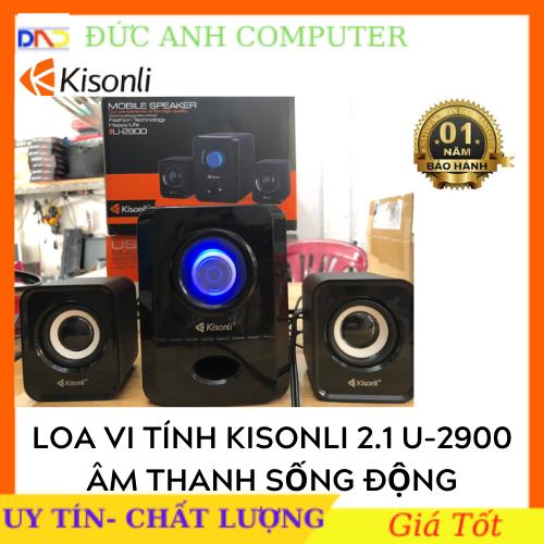 LOA VI TÍNH KISONLI 2.1 U-2900 (3 Cái 1 bộ) ĐEN/ TRẮNG. Âm Thanh Tuyệt Hảo Kiểu Dáng Cực Đẹp- Full Box Bh 12 Tháng