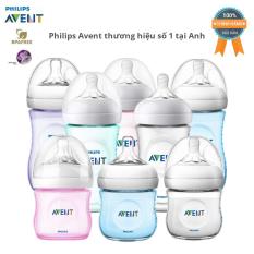 Bình sữa cho bé Philips Avent Natural 125ml / 260ml – nhựa PP BPA Free cổ rộng mô phỏng tự nhiên. ( Tách hộp 4 bình ) )