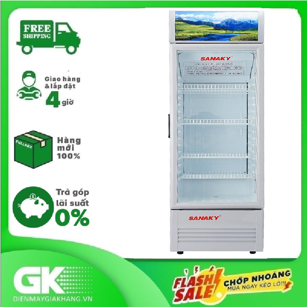 TRẢ GÓP 0% – TTRẢ GÓP 0% – Tủ mát Sanaky 340 lít VH-408KL, cửa tủ có chất liệu công nghệ kính Low-E, xuất xứ tại Việt Nam, bảo hành 24 tháng- Bảo hành 2 năm