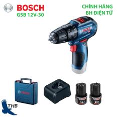 Máy khoan bắt vít dùng pin Bosch GSB 12V-30 Nhiều tính năng nổi bật, kết quả chính xác Động cơ không chổi than