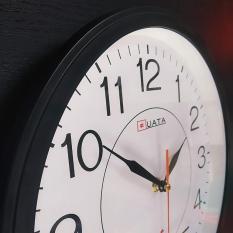 Đồng hồ treo tường tròn – màu đen – size 30cm
