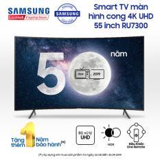 Smart TV Samsung màn hình cong 4K UHD 55 inch – Model UA55RU7300KXXV (2019) – Bộ Xử Lý UHD Quyền Năng + Công nghệ xử lý hình ảnh Purcolour – Hàng phân phối chính hãng.