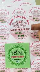 Combo 100 nhãn dán sticker thiết kế miễn phí theo yêu cầu, đủ kích thước