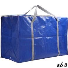 Đủ Size – Túi Bạt, Túi Dứa Có Dây Kéo Đựng Đồ – Màu Xanh Cam (May Từ Vải Bạt Tú Phương)