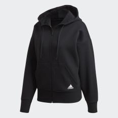 adidas NOT SPORTS SPECIFIC 3-Stripes Doubleknit Full-Zip Scuba Hoodie Nữ Màu đen FR5113