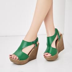 Giày Sandals Nữ Da Mềm Đế Xuồng Chống Nước Tôn Dáng Mẫu Mới 2019