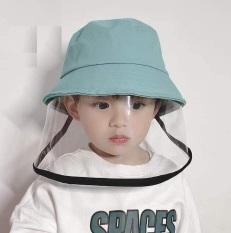Mũ, nón bé trẻ em có tấm chắn dẻo chống dịch, bụi K186
