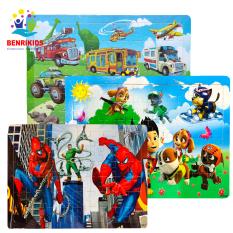 Đồ Chơi Gỗ Benrikids,Tranh Ghép Hình 60 Mảnh Cho Bé Trai Và Bé Gái Từ 3 Đến 5 Tuổi Rèn Luyện Tư Duy